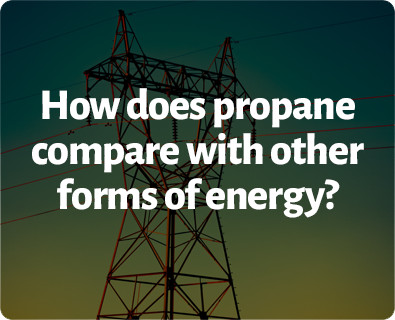 How does propane compare to other forms of energy?